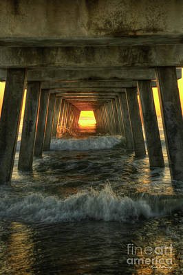 Photograph - Relentless Tybee Island Pier Sunrise Art by Reid Callaway