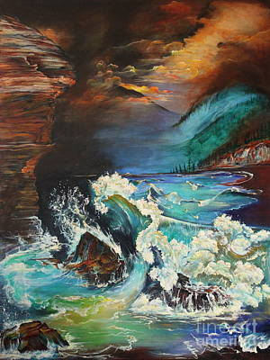 Painting - Relentless Wave by Farzali Babekhan