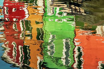 Burano Photograph - Reflections Of Burano by Andrew Soundarajan