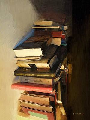 Bookshelf Painting - Reliable Companions by RC DeWinter