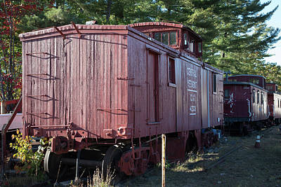 Photograph - Relic Caboose In Color by John Clark