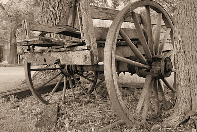 Relic Farm Wagon Art Print by Scott Kingery