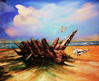 Painting - Relic Washed Ashore by Al Brown