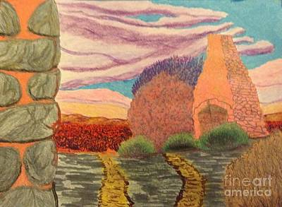 Desert Sunset Drawing - Relics Of The Desert  by Ishy Christine MudiArt Gallery