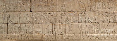 Papyrus Relief - Relief From The Temple Of Dendur by Egyptian School