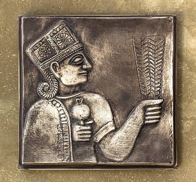 Relief Copper Art Relief - Relief Maya by Germano Poli