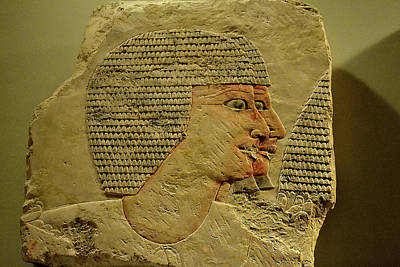 Photograph - Relief Of Egyptian Guards  by Nadalyn Larsen