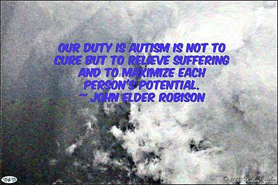 Photograph - Relieve Autism Suffering by Holley Jacobs