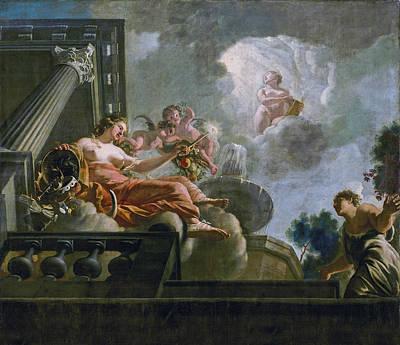 Painting - Religio Favours Abondantia by Gerard de Lairesse