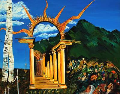Climate Change Painting - Religion And Nature by Gregory Allen Page