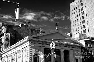 Photograph - Religion In Greenwich Village by John Rizzuto