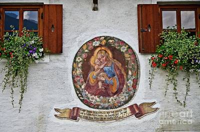 Photograph - Religious Mural Pettnau Tyrol by Elzbieta Fazel