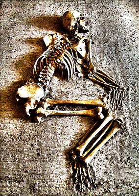 Human Skeleton Photograph - Remains ... by Juergen Weiss