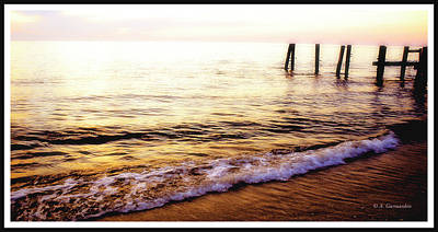 Photograph - Remains Of An Ocean Pier At Sunset, Cape May, N.j. by A Gurmankin