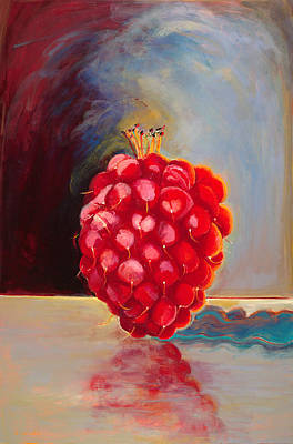 Remarkable Raspberry Art Print by Diane Woods