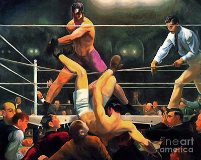 Wingsdomain Painting - Remastered George Bellows Dempsey And Firpo 20170408 by Wingsdomain Art and Photography