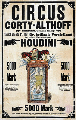Photograph - Remastered Nostagic Vintage Poster Art Houdini Water Filled Torture 20170416 by Wingsdomain Art and Photography