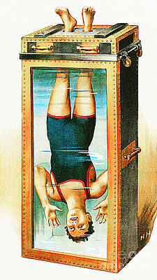 Photograph - Remastered Nostagic Vintage Poster Art Houdini Water Filled Torture Cell 20170415 Notext by Wingsdomain Art and Photography