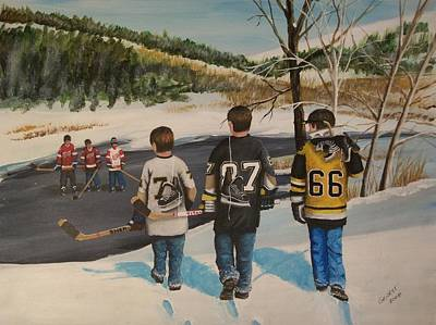 Sidney Crosby Painting - Rematch 2008 by Ron  Genest