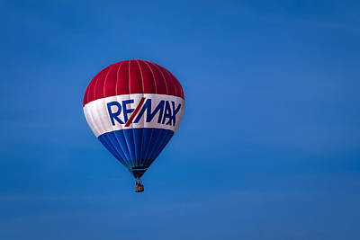 Photograph - Remax Hot Air Balloon by Ron Pate