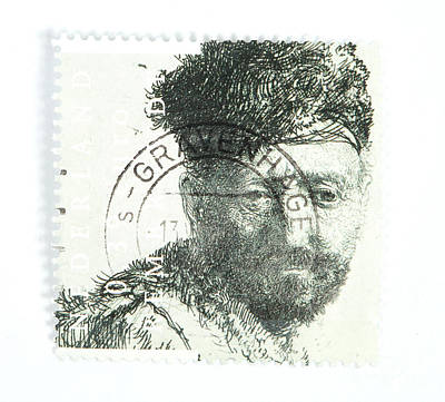Photograph - Rembrandt Etch On Postage Stamp by Patricia Hofmeester