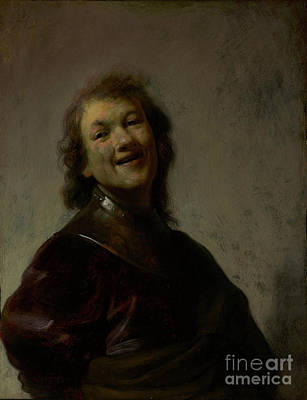 Airforce Painting - Rembrandt Laughing By Rembrandt Harmensz. Van Rijn by Esoterica Art Agency