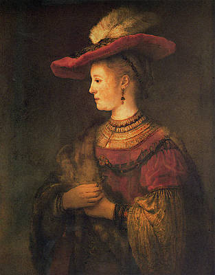 Saskia Digital Art - Rembrandt Saskia by PixBreak Art