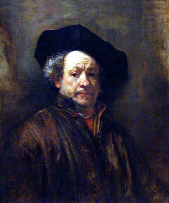Painting - Rembrandt Self Portrait 1660 by Rembrandt