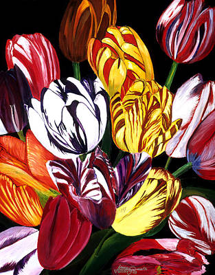 Painting - Rembrandt Tulips by JoeRay Kelley
