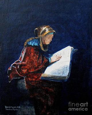 Rembrandts Prophetess Ana Art Print by Pauline Ross