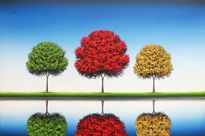 Bing Painting - Remember Blue Skies by Rachel Bingaman