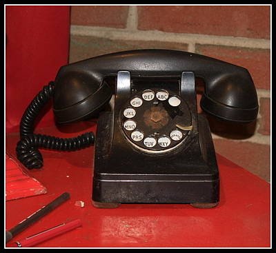 Photograph - Remember Me? The Rotary Phone by Dora Sofia Caputo Photographic Design and Fine Art