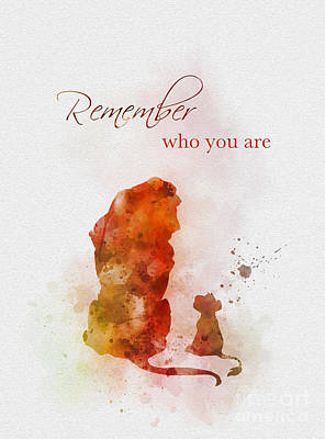 Watercolour Mixed Media - Remember Who You Are by Rebecca Jenkins