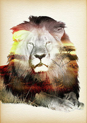 Poaching Painting - Remembering Cecil The Lion 2 - By Diana Van by Diana Van