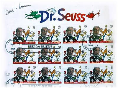 Photograph - Remembering Dr. Seuss In Stamps by Barbie Corbett-Newmin