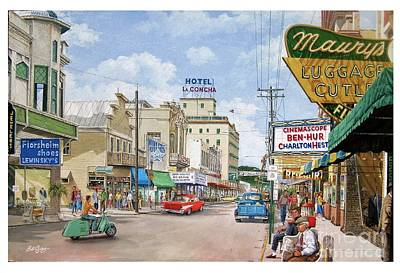 Painting - Remembering Duval St. by Bob George