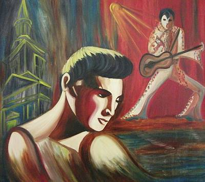 Remembering Elvis Art Print by Suzanne  Marie Leclair