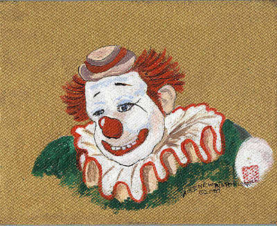 People Drawing - Remembering Felix Adler The Clown by Arlene  Wright-Correll