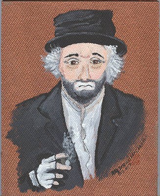 Red Skelton Painting - Remembering Freddie The Freeloader by Arlene  Wright-Correll