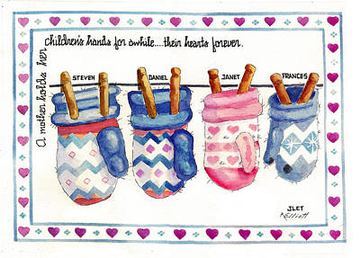 Laundry Painting - Remembering Jan by Marsha Elliott