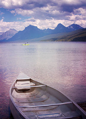 Print featuring the photograph Remembering Lake Mcdonald by Heidi Hermes