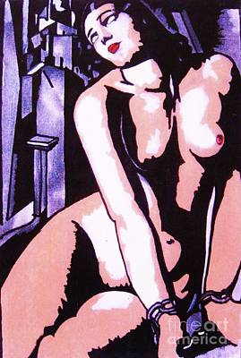 Painting - Remembering Lempicka by Roberto Prusso