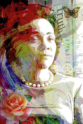 Mixed Media - Remembering Mrs.king by Angela Holmes