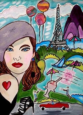 Painting - Remembering Paris by Nikki Dalton