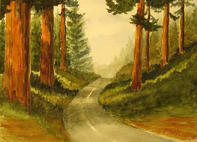 Painting - Remembering Redwoods by Marilyn Jacobson
