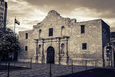 Photograph - Remembering The Alamo In Sepia - San Antonio Texas by Gregory Ballos