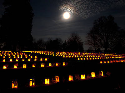 Luminaria Photograph - Remembering The Fallen by Paul R Sell Jr