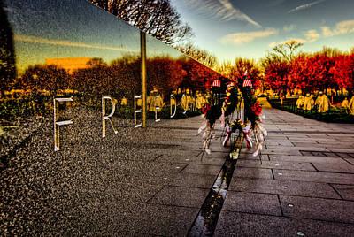 Korean War Memorial Photograph - Remembering The Heroes by David Hahn