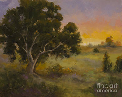Landscape Painting - Remembering The Light - California Central Coast Oil Painting by Karen Winters