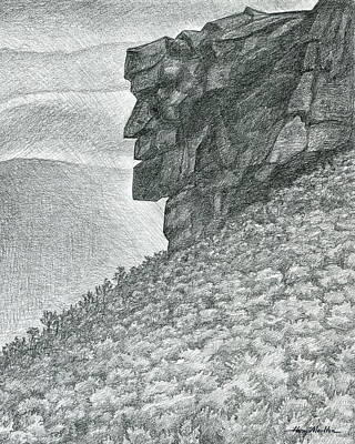 Drawing - Remembering The Old Man by Harry Moulton